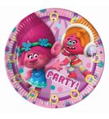 Taniere party Trolls 23cm 8ks/bal.